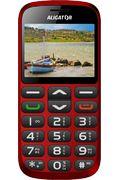 Aligator A870 Senior + nabíjecí stojánek, červený