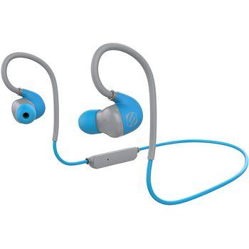 Scosche bluetooth sportovní sluchátka s mikrofonem a ovládáním sportclipAIR, modro-šedé