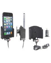 Brodit držák do auta na Apple iPhone 5S/5/SE bez pouzdra, s nabíjením z cig. zapalovače/USB, samet
